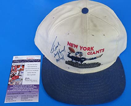 FRANK GIFFORD SIGNED NY GIANTS CAP HAT ~ R36861 ~ Insc