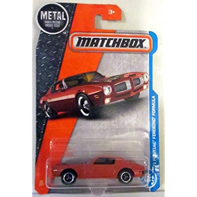 Matchbox 2020 MBX Adventure City '71 Pontiac Firebird Formula 25/125, Orange: Toys & Games
