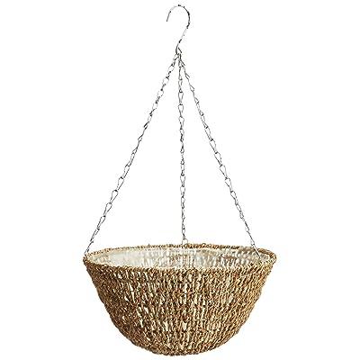 """Gardman R490 Woven Rope Hanging Basket, 14"""" Diameter: Garden & Outdoor"""