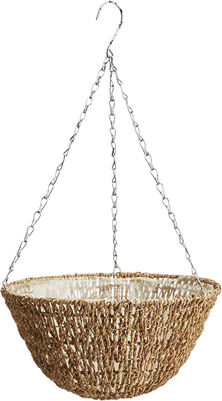 """Gardman R490 Woven Rope Hanging Basket, 14"""" Diameter"""