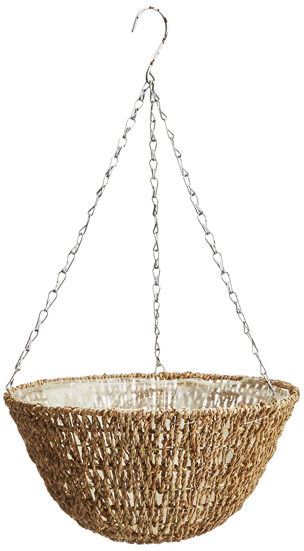amazon com gardman r490 woven hanging basket 14