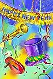 Toland Home Garden Noisy New Year Decorative USA-Produced Garden Flag, 12.5 by 18-Inch