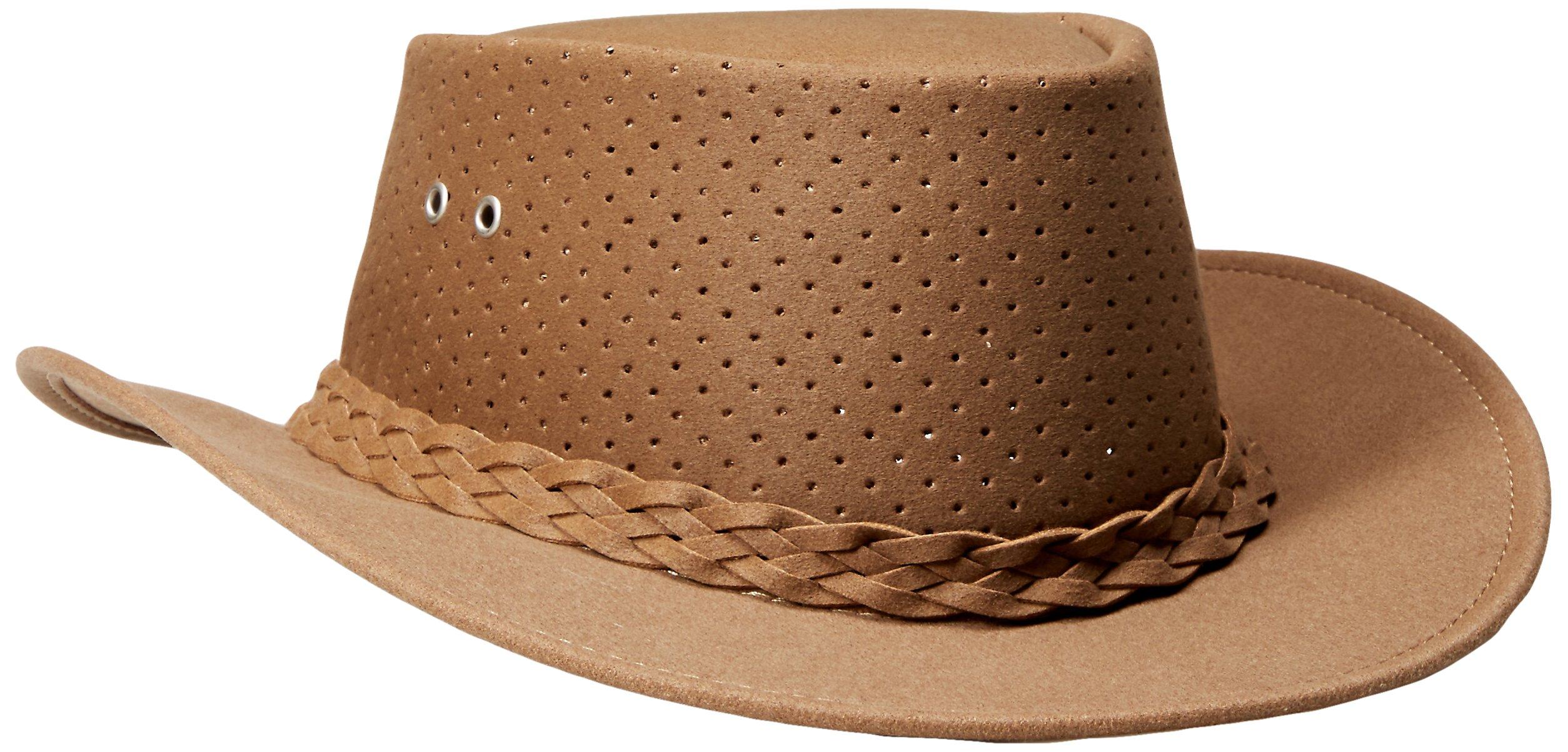 Aussie Chiller Bushie Perforated Hats Tan Large by Aussie Chiller