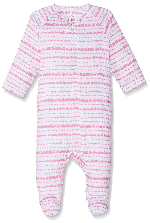 aden + anaisベビー女の子長袖ファスナー一体型、ベリーShiboriストライプ 6 - 9 Months Stripe Berry Shibori B01N6IG56Y