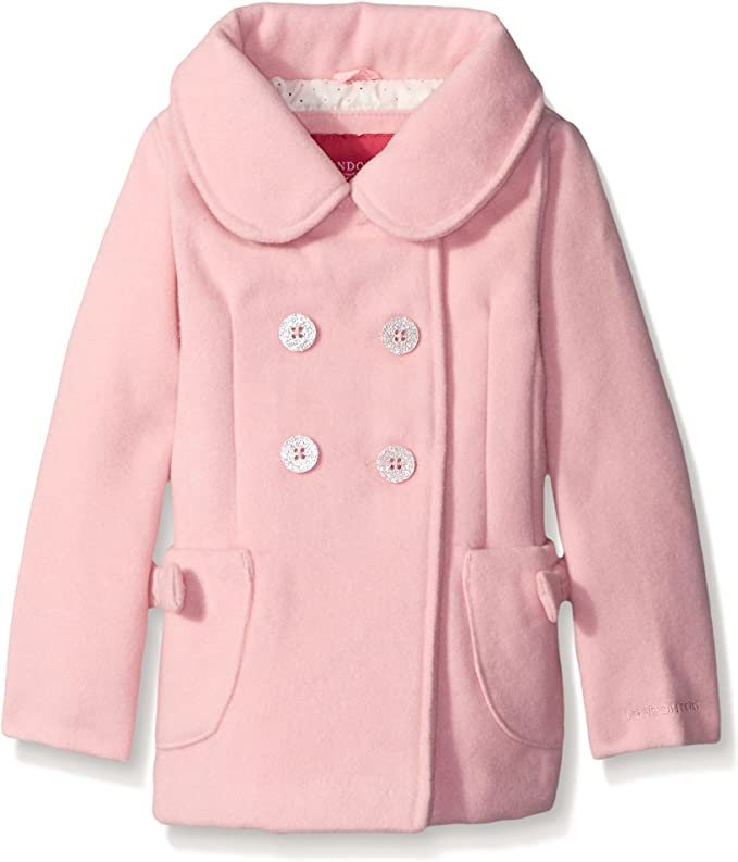 Cicie Girls Winter Clothes Toddler Kids Thicken Outwear Coat Bowknot Woolen Cloth Overcoat