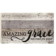 P. GRAHAM DUNN Amazing Grace Faded Music Notes 14 x 24 Wood Boxed Pallet Wall Art Sign Plaque