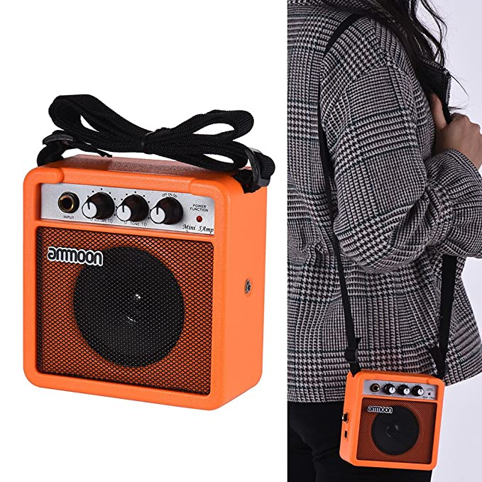 ammoon Receptor Transmisor de Guitarra Sistema de Guitarra Inalámbrico (amplificador naranja): Amazon.es: Instrumentos musicales