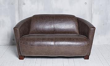 Sofa Couch Mero Braun In Lederoptik 135 Cm 2 Sitzer Vintage Retro