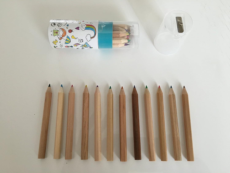 1 Blister de 12 crayons de couleur + taille-crayon