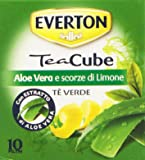 Everton - Tea Cube, Tè Verde con Aloe Vera e Scorze di Limone - 5 confezioni da 10 filtri [50 filtri]