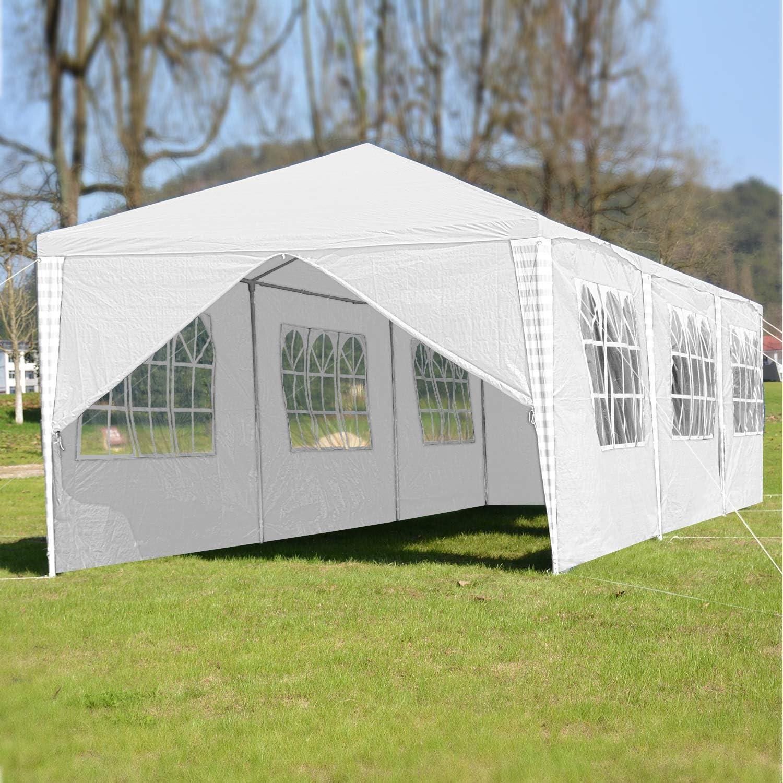 con Pannelli Laterali 3 x 9 m per Matrimoni Struttura in Acciaio Verniciato a Polvere Giardini Protezione UV Feste Hengda Tenda da Giardino