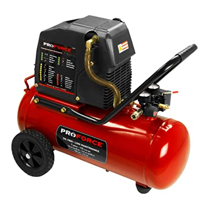 Air Compressors Home Workshop Products John Deere Us >> Pro Force Vpf1580719 7 Gallon Oil Free Air Compressor With Kit