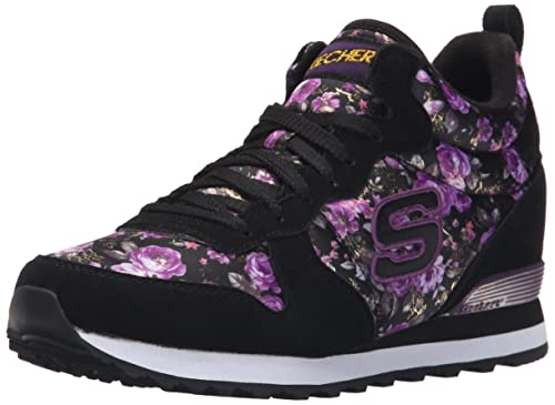 Skechers Retros Og 85, Women's Low-Top Sneakers, Black (Bkpr),
