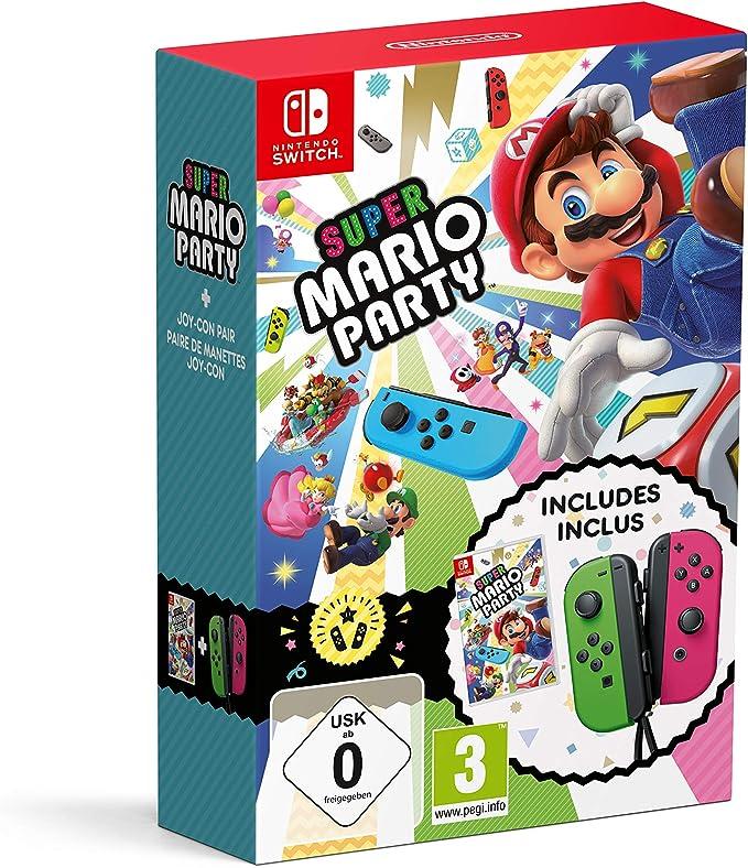 Nintendo Super Mario Party con Joy-con Verde Neon e Rosa Neon ...