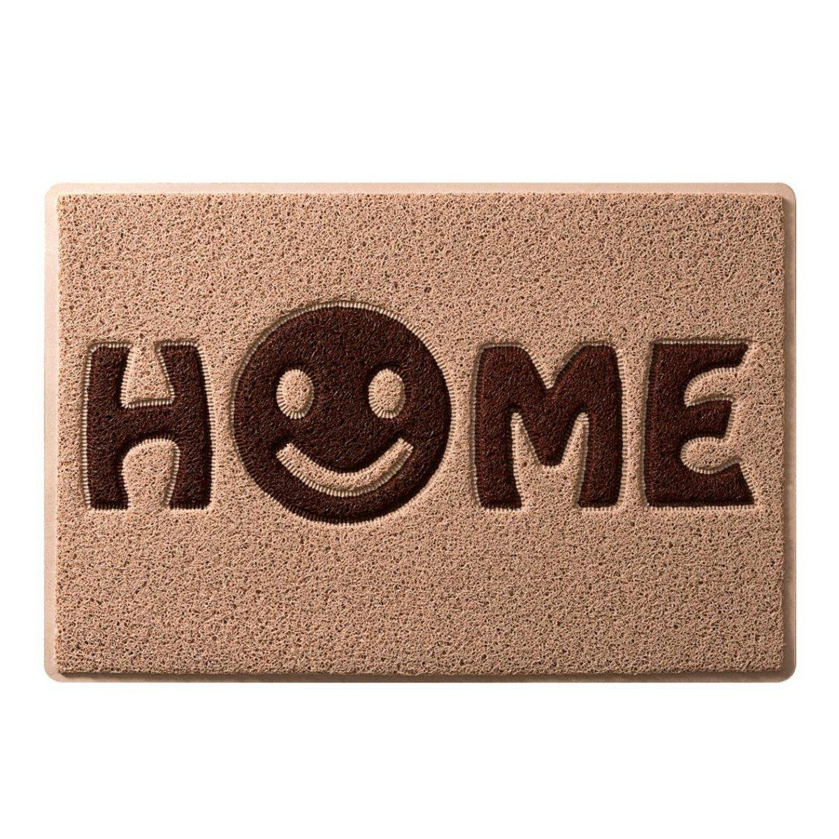 """Relaxdays 10016797  Paillasson en fibres de coco Tapis d/'entr/ée 40 x 60 cm Natte de plancher /""""HOME SWEET HOME avec dessous PVC antid/érapant caoutchouc tapis de sol essuie-pieds accueil marron"""