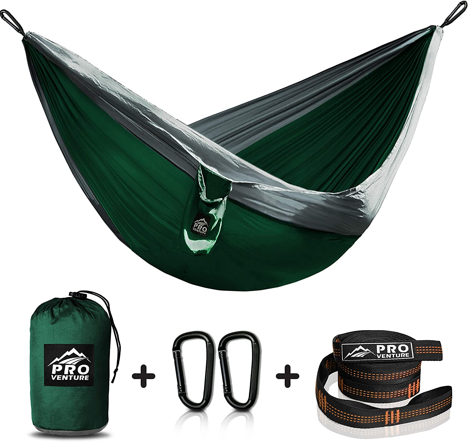 Hammocks With Free Premium Straps Carabiners Backpacker Approved And Ready For Adventure Single Camping Hammock Lightweight And Compact Parachute Nylon Hammocks Sports Outdoors
