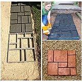 DIY Pathmate personalizada Piedra de pavimentación del molde cuadrado de jardín al aire libre decoración de pasillos de cemento molde 50*50cm color negro