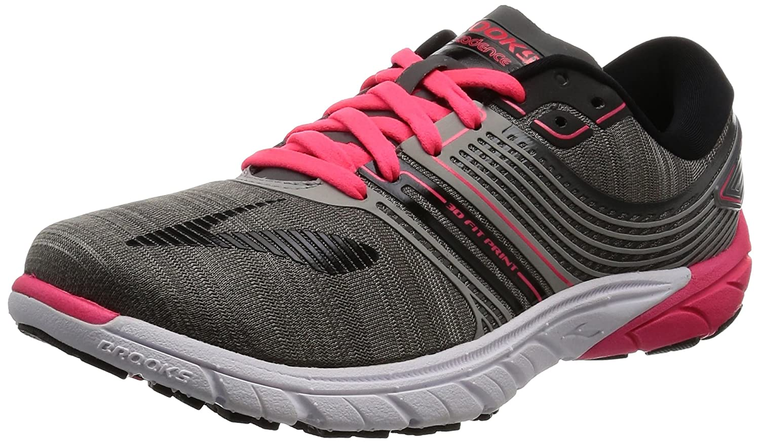 Brooks Womens PureCadence 6 Overpronation Stability Running Shoe B01GEZUPPY 7 B(M) US|Castle Rock/Black/Diva Pink