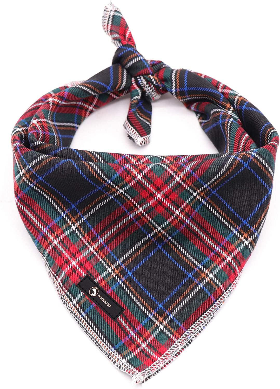 Upcycled Fabric Bandana Sustainable Fabric Cat Bandana Tie On Dog Bandana Evergreen Reversible Handmade Pet Bandana