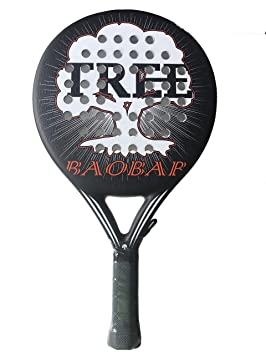 TreePadel-Pala de Padel Modelo Baobab 2018 - Negra y Roja: Amazon.es: Deportes y aire libre