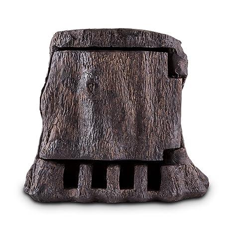 Waldbeck Tree Time Toma de corriente para jardín (2 cajas de enchufe, 5 m de cable, resistente al agua, timer, temporizador) - diseño de tronco: Amazon.es: Bricolaje y herramientas