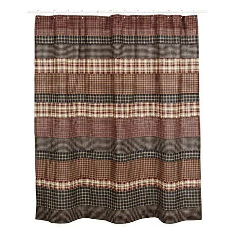 Amazon.com: VHC Brands 17933 Beckham Shower Curtain 72 x 72: Home ...