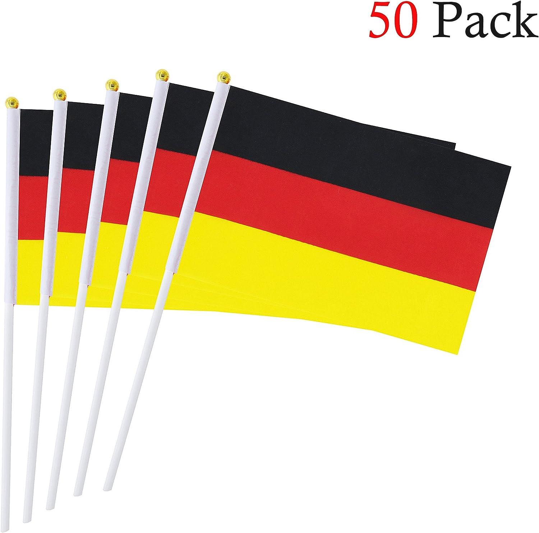 Hemore Banderas Pequeñas,Banderas de Mano,50 PCS 14 x 21CM Mini Banderas de España: Amazon.es: Deportes y aire libre
