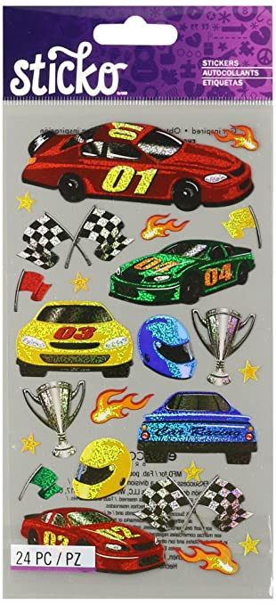 Amazon Com Sticko Race Cars Stickers