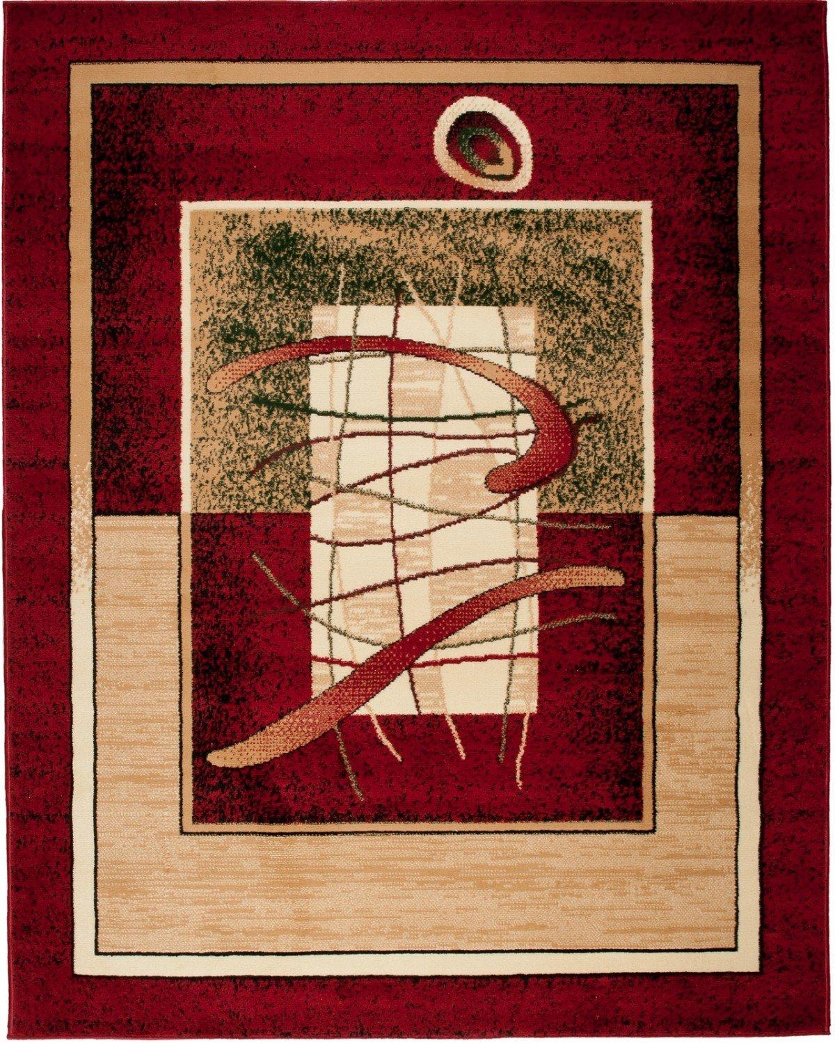 Petit Tapis De Salon - Rouge - Parfait Pour La Chambre - Design Classique - Plusieurs Coloris & Tailles 'VERONA ' 70 x 130 cm