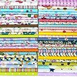 "Quilting Fabric, Misscrafts 50pcs 12"" x 12"" (30cm x 30cm) Cotton Craft Fabric Bundle Patchwork Pre-Cut Quilt Squares for DIY Sewing Scrapbooking Quilting Dot Pattern"