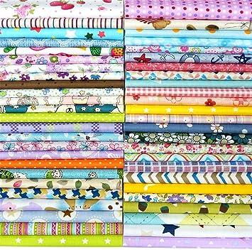 31491be73e6072 25Pcs Baumwollstoff Patchwork Stoffe DIY Gewebe Quadrate Baumwolltuch  Stoffpaket zum Nähen mit vielfältiges Muster 30x30cm