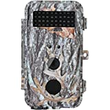 "BlazeVideo 16MP HD Hunter Hunting Trail Wildlife Camera & Game Scouting Cam Motion Activated Waterproof with Night Vision 40pcs IR LEDs & PIR Up to 65ft, Video Record, Snapshot, 2.36"" LCD Screen"