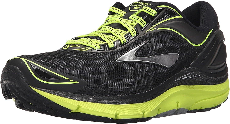 Brooks Transcend 3, Zapatillas de Running para Hombre, Negro (Schwarz/Gelb), 49.5 EU: Amazon.es: Zapatos y complementos