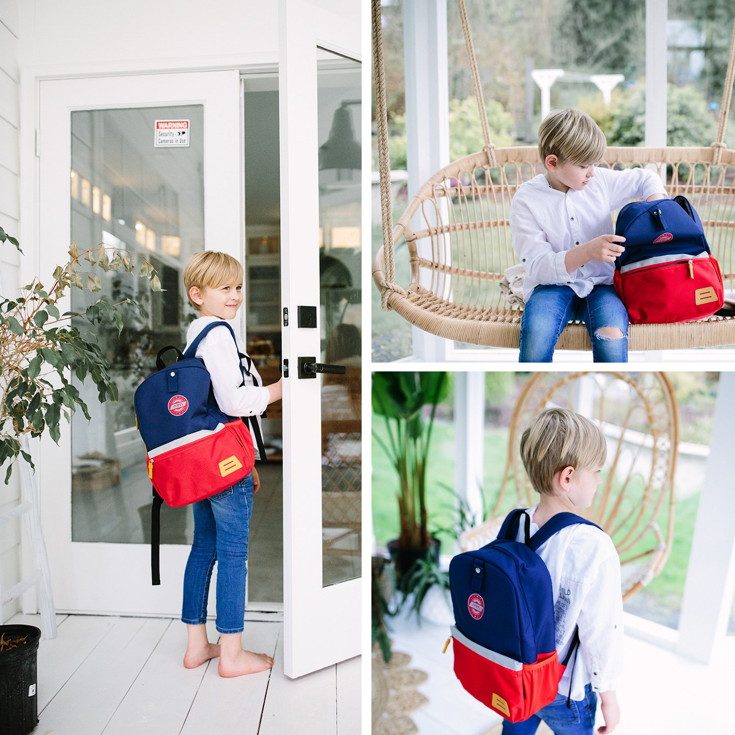 9e53357a3fd0a5 Backpacks mommore Large Size Kids Backpack for School Lunch Bag Chest Clip  for 4-7 Years ...