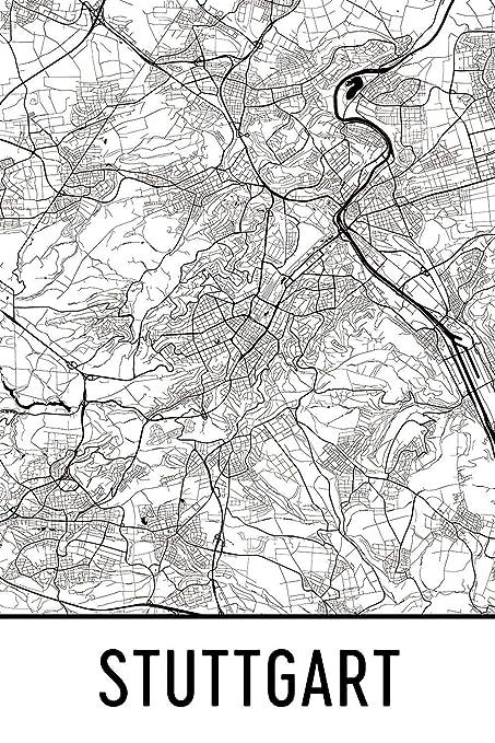 Stuttgart Map Of Germany.Amazon Com Stuttgart Print Stuttgart Art Stuttgart Map Stuttgart