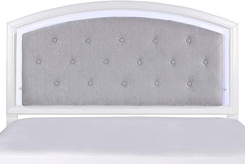 Deal of the week: Hillsdale Furniture Lyndon Lane Upholstered Panel LED Lighted Headboard