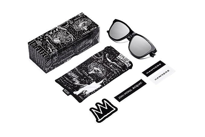 HAWKERS · HAWKERS X BASQUIAT · Silver · Chrome · Gafas de sol para hombre y mujer: Amazon.es: Ropa y accesorios