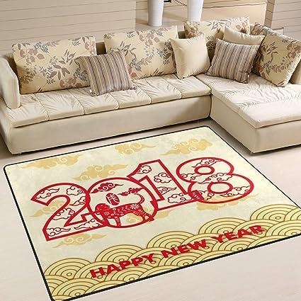Feliz Ano Nuevo Chino 2018 Ano De El Perro Alfombrilla De Piso