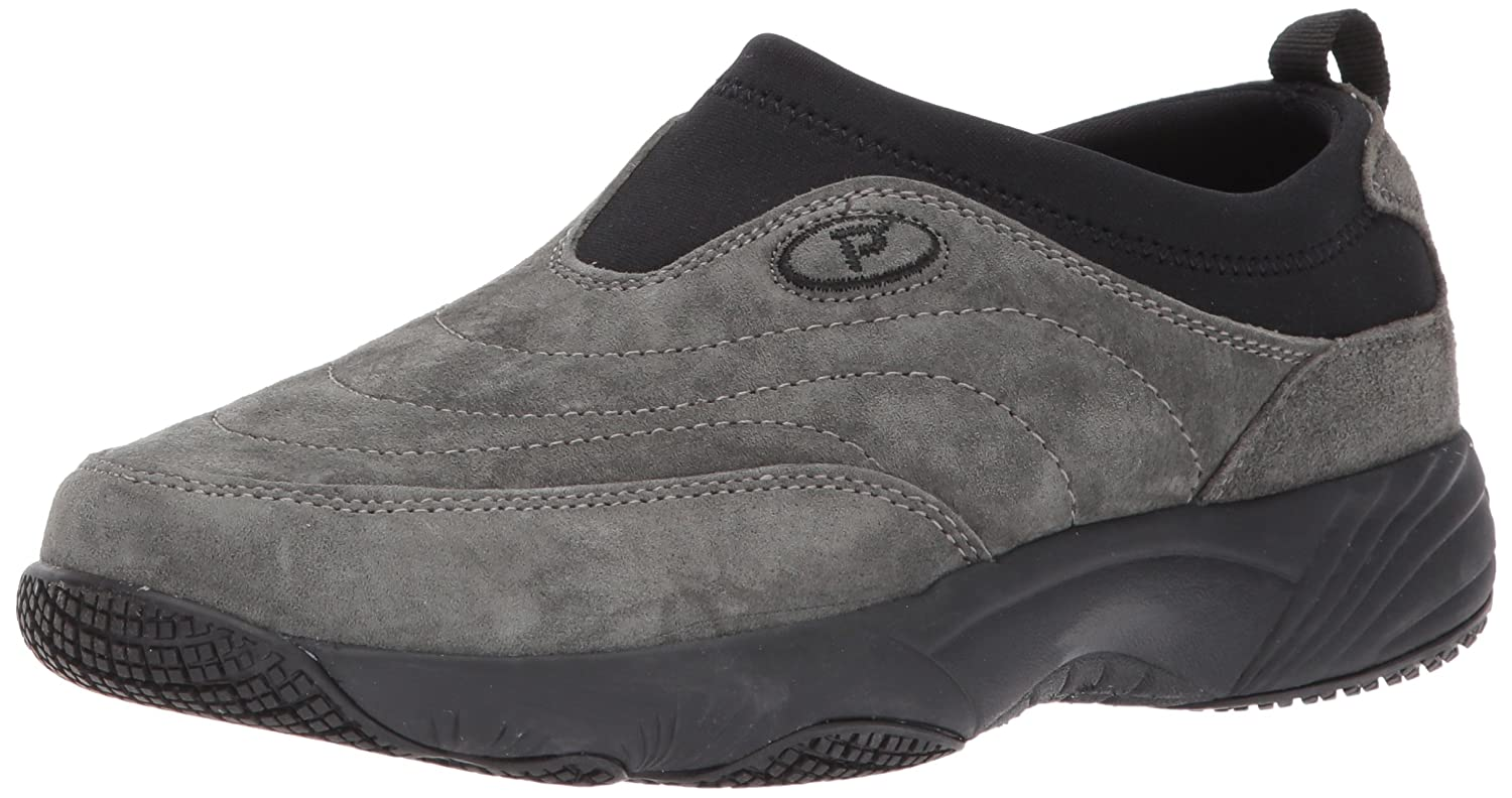 Propet Women's Wash N Wear Slip on Ll Walking Shoe B01MZZSFBD 6.5 B(M) US|Sr Pewter Suede