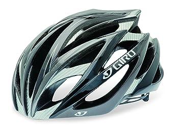 Giro Ionos Road Racing Casco, Unisex, negro y gris