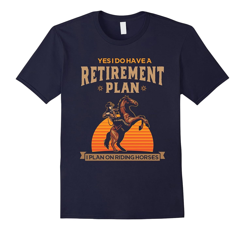 Horse Retirement Shirt Women Black-Awarplus