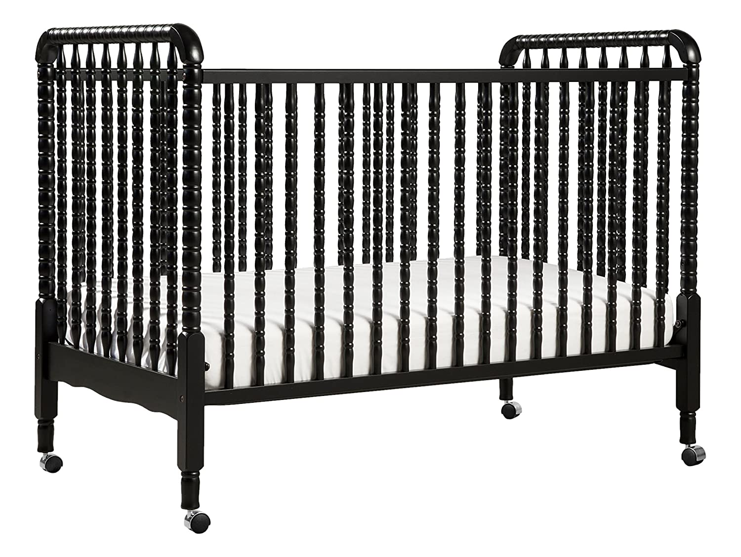 DaVinci Jenny Lind Stationary Crib with Toddler Bed Conversion Kit, Lagoon