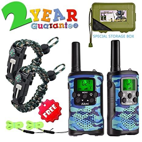 Walkie Talkies For Kids 22 Channel 2 Way Radio 3 Miles Long Range Handheld Durable Toy Best Birthday Gifts 6 Year Old Boys And Girls Fit