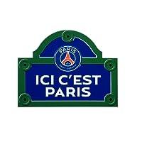 PSG Ici C'est Paris Plaque de Rue Metal Multicolore 25 x 20 x 0,5 cm