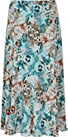 "Ladies Womens PLUS SIZE NEW Maxi 31"" Length jersey Fabric HALF ELASTICATED SKIRT"