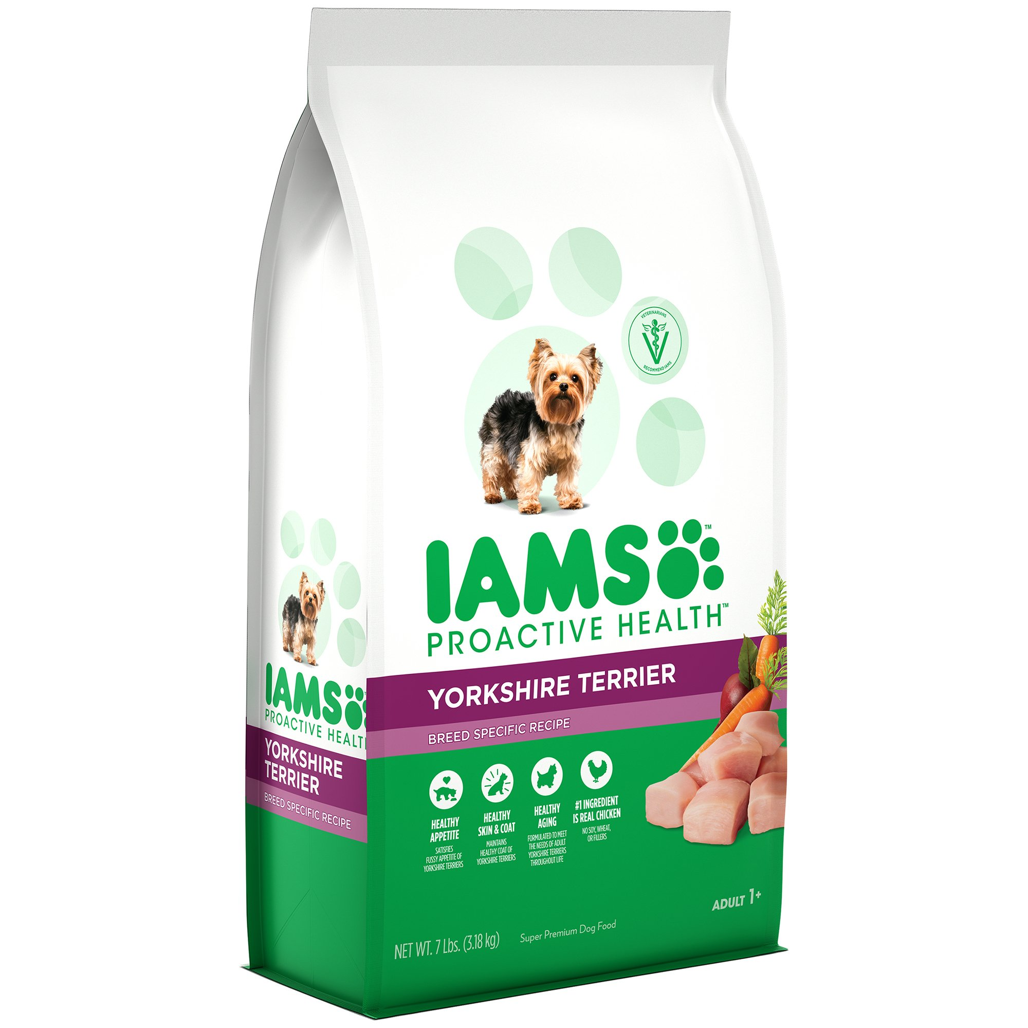 Iams Proactive Health Adult Yorkshire Terrier Dry Dog Food, Chicken Flavor, 7 Pound Bag