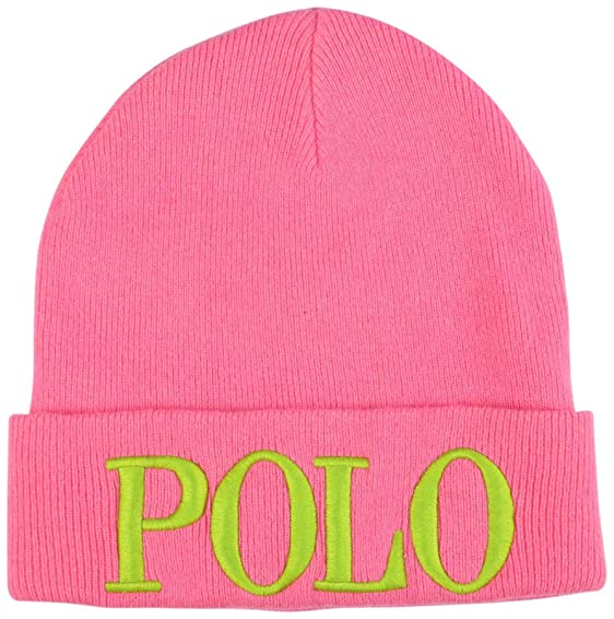 2a259fa582a57 Polo Ralph Lauren Women s Polo Embroidered Beanie-Knock Out Pink at Amazon  Women s Clothing store
