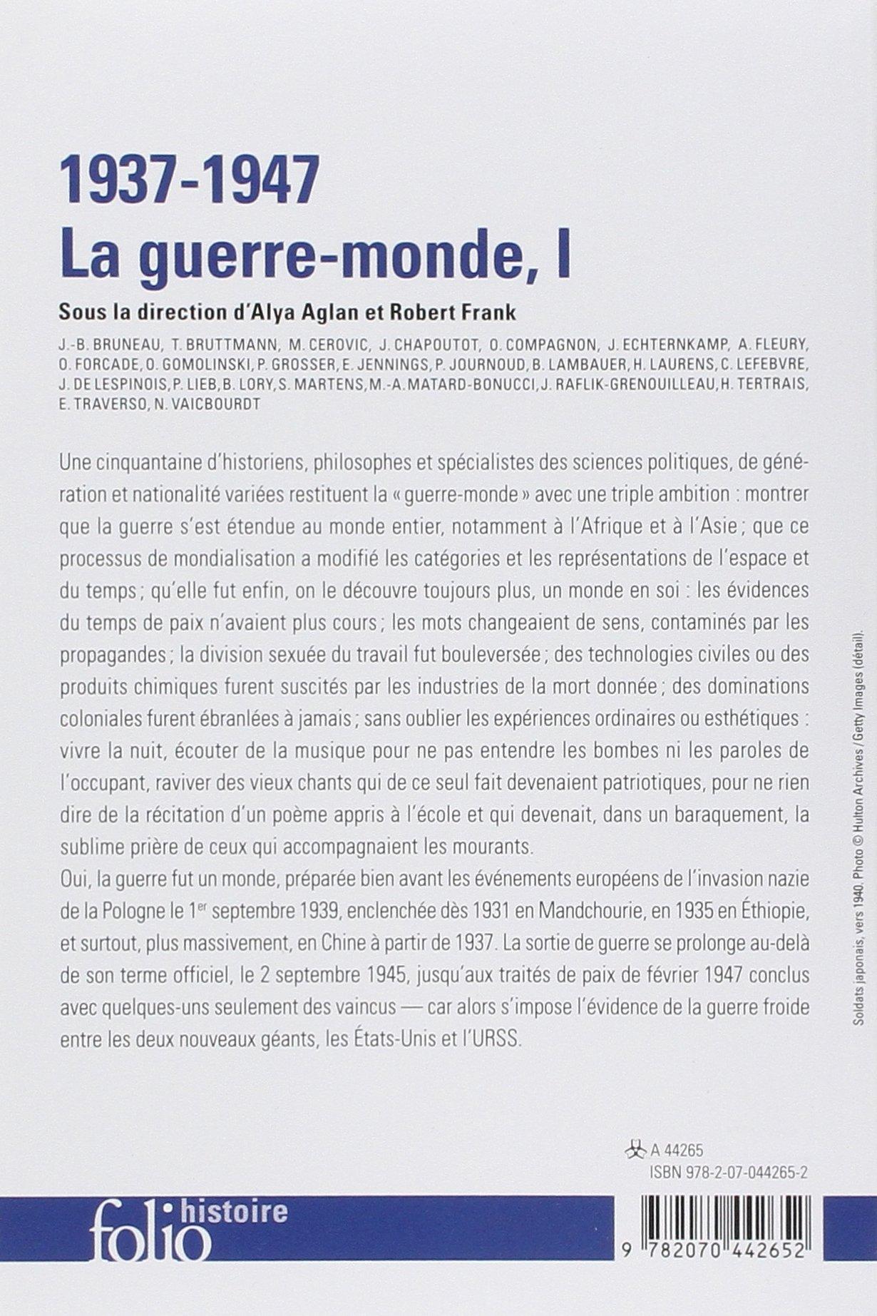 Amazon.fr - 1937-1947 : la guerre-monde (Tome 1) - Claire Andrieu, Ludivine  Bantigny, Jean-Baptiste Bruneau, Joanna Bourke, Tal Bruttmann, Johann  Chapoutot, ...