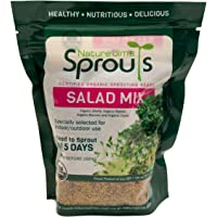 Nature Jim's Sprouts Salad Sprout Mix - Organic Salad Mix for Growing - Non-GMO Microgreen Seeds - Healthy Broccoli…