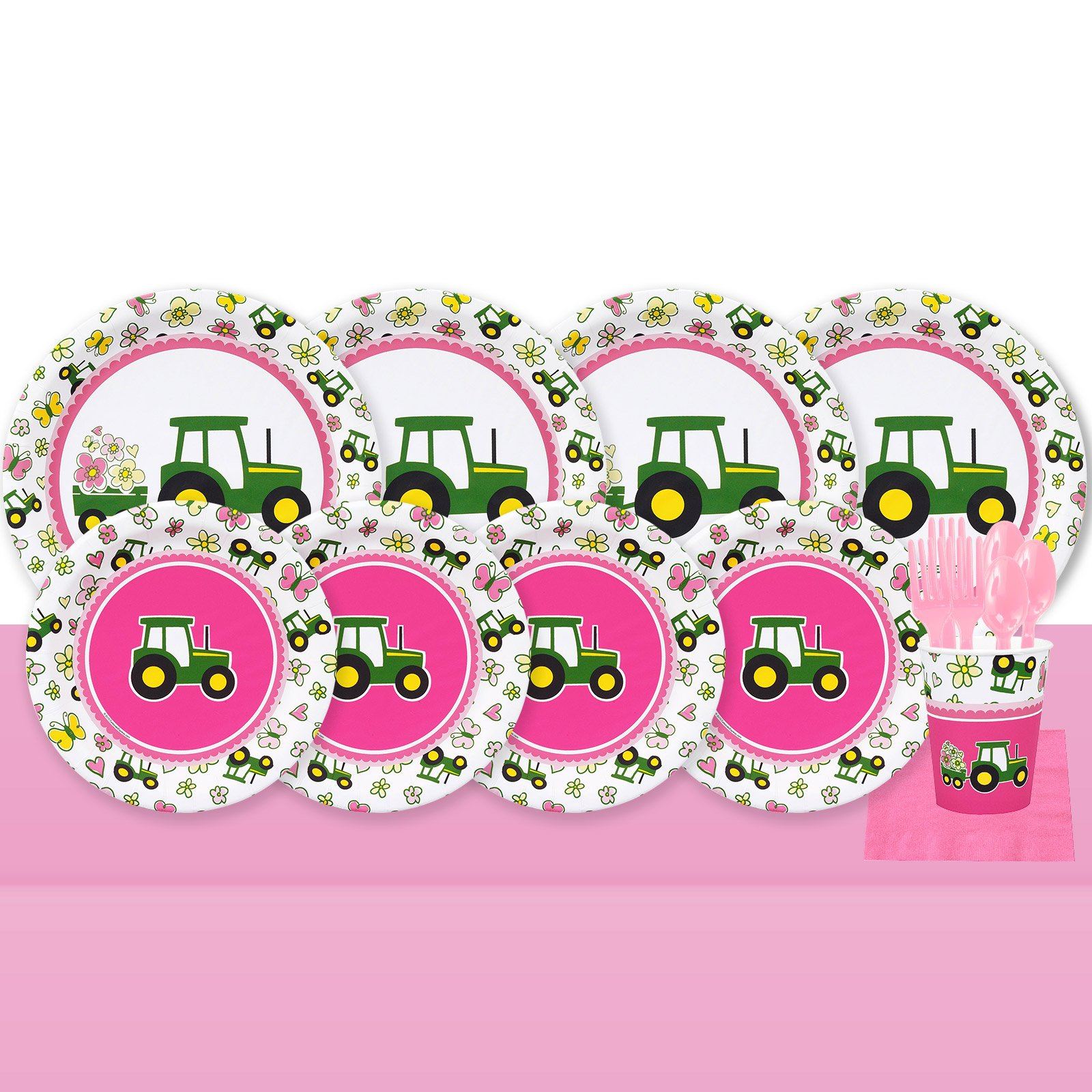 John Deere Pink 32 Guest Party Pack by Unknown